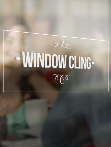 Vinyl Window Clings - 3'' x 3''
