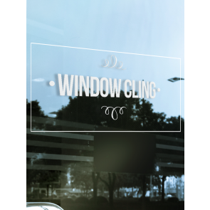 Vinyl Window Clings - 8'' x 8''
