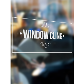 Vinyl Window Clings - 2.5 x 3.5